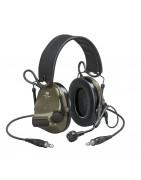 Aktywne słuchawki, ochronnik słuchu z radiotelefonem